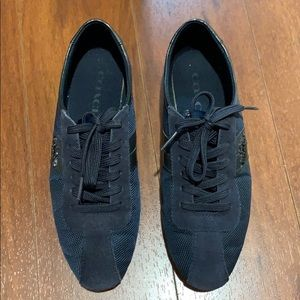 Coach navy blue sneakers